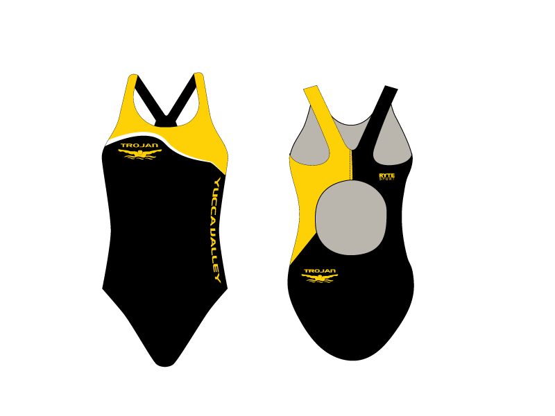 Yucca Valley High School Swim 2019 Custom Thick Strap