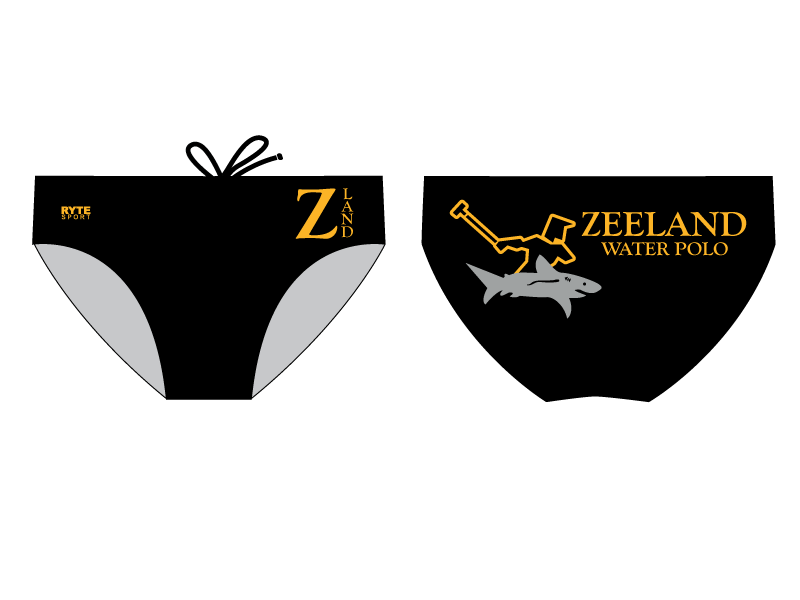 Zeeland High School Water Polo 2019 Custom Men's Water Polo Brief