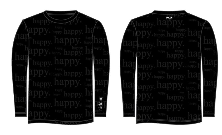 happy. Adult Unisex Long Sleeve Jersey