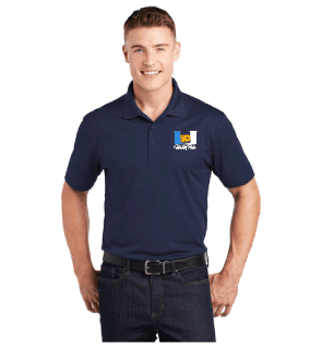 University High School Water Polo 2019 Custom Navy Men's Polo Shirt