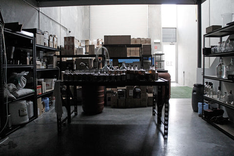 Inside the White Possum distillery and warehouse