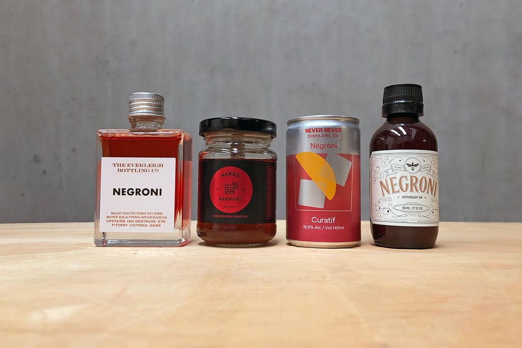 Negroni Tasting Flight