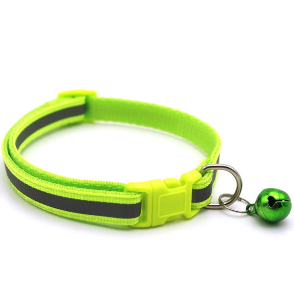 Pet collar reflective pet bell collar adjustable size suitable for cats and small dogs pet supplies