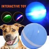 Electric Rolling Pet Ball Toy Dog Rolling Ball USB Rechargeable Led Flash Jumping Ball Luminous Smart Toys for Dogs