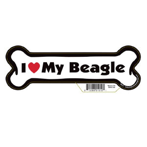 "7"" Dog Bone Magnet (I Love My Beagle)"