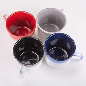 Mugs-Multicolor Glazed Porcelain Coffee mugs