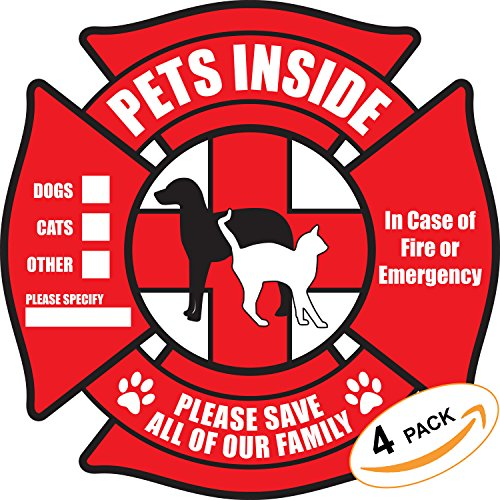 Tee's & More Pet Inside Sticker Static Cling Rescue Window Decals