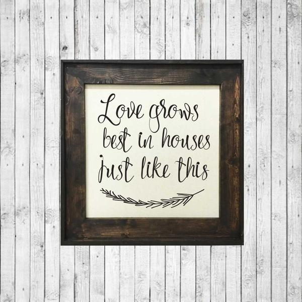 Love Grows Best In Houses Just Like This | 24x24