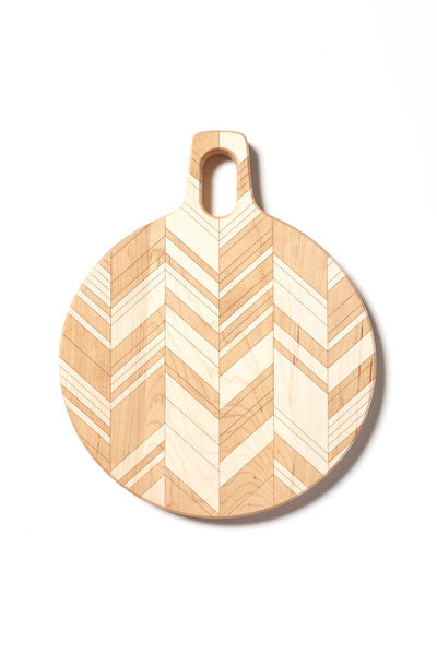 American Heirloom - Round Maple Board with Herringbone Pattern