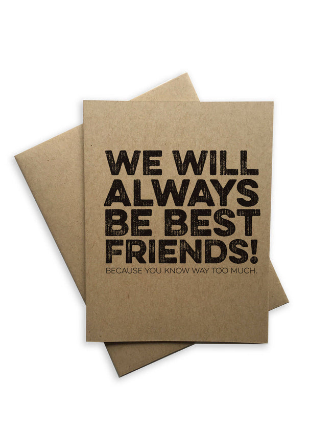 Tiramisu Paperie - We Will Be Best Friend Notecard