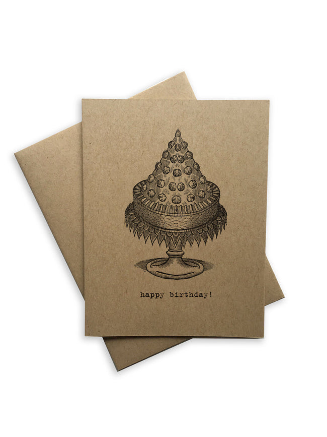 Tiramisu Paperie - Happy Birthday Cake Notecard
