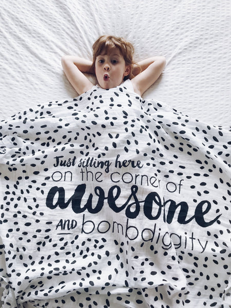 Awesome Bombdiggity Muslin Baby Swaddle