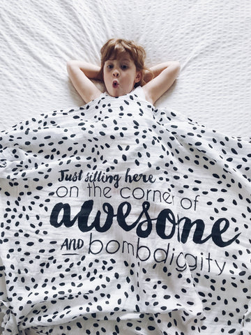 So This Is Love : Muslin Swaddle Blanket