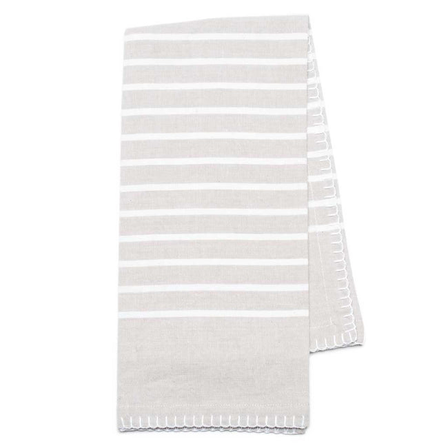 "Our Eva collection is a modern take on farmhouse fresh dining. 100% Organic Cotton tea towels and napkins are solution dyed and washed for a pre faded look. 20x28""  Goes perfectly with the Florence placemats!!"
