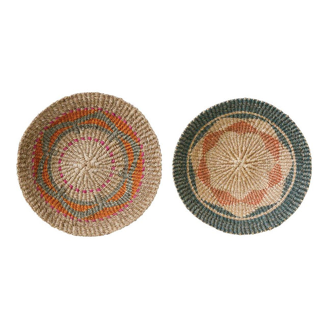 Abaca Wall Basket Decor 16""