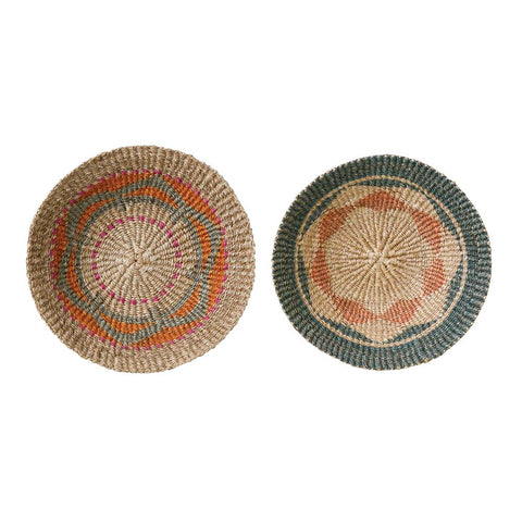 "Sea Grass Wall Baskets : Medium 18"" round"