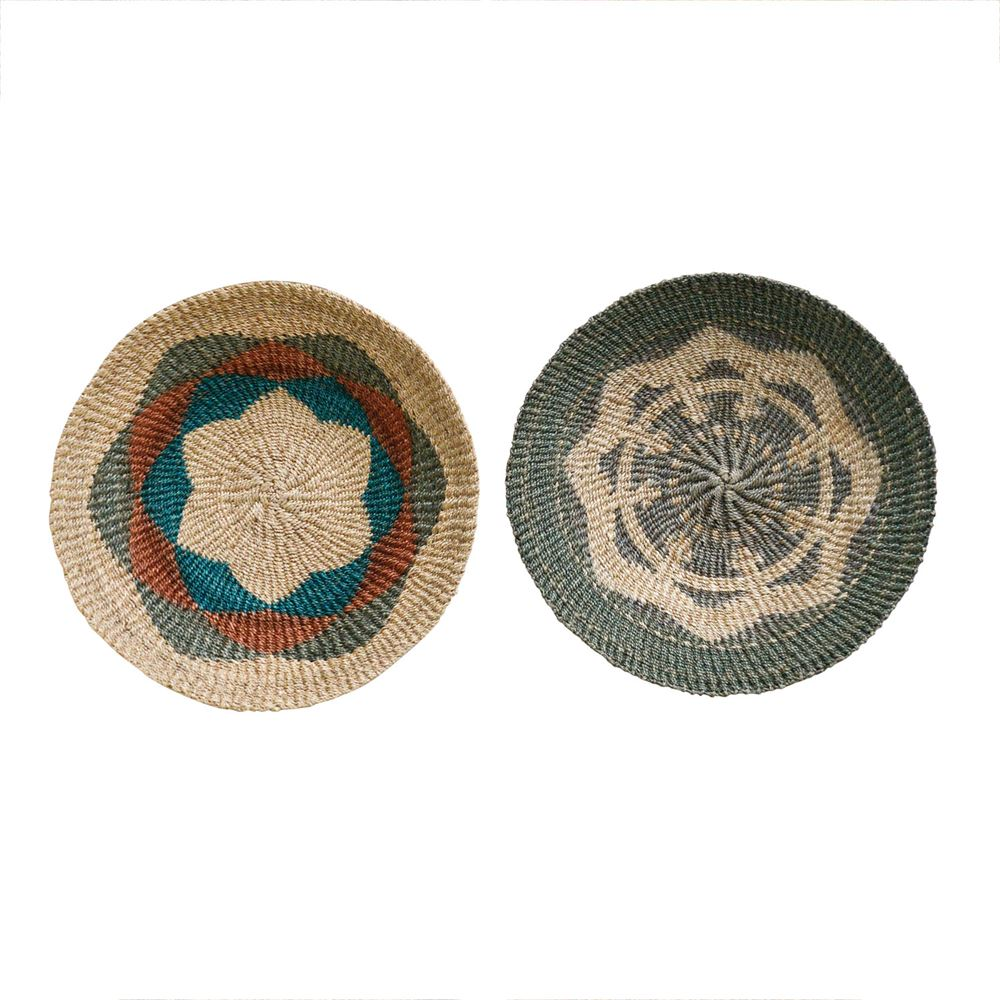 Abaca Wall Basket Decor 18""