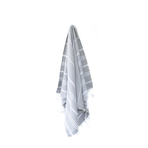 Cove Turkish Towel - Grey, Black, and Beige