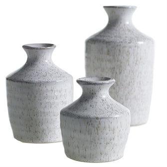 Ava Collection: Speckled Ceramic Vases : 3 sizes