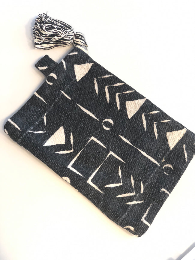 Mudcloth Makeup Pouches or Clutch