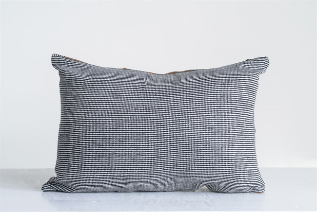 Leather and Felt Pillow 20 x 14