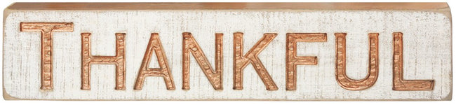 Thankful - Carved Wood Sign