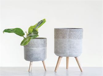 Cement Planters, Large and Medium