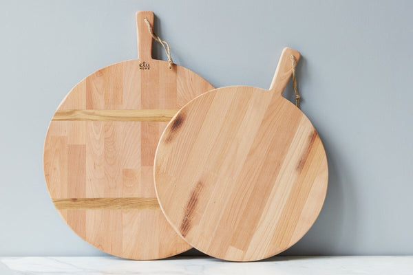Beech Round Pizza Board, Medium and Large