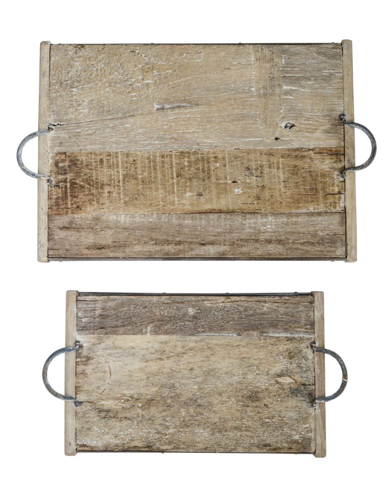 Magnolia Reclaimed Wood Tray 16 x 10  This tray is made of vintage reclaimed wood.  No two trays are exactly alike.