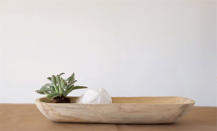 Small Wood Dough Bowl