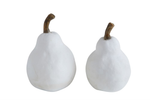 White Resin Pears - 2 sizes