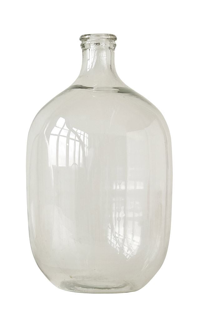 "Round Glass Bottle 9"" round, 19"" H"