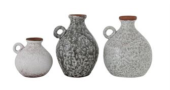 Terra Cotta Shelving Vases - Set of 3