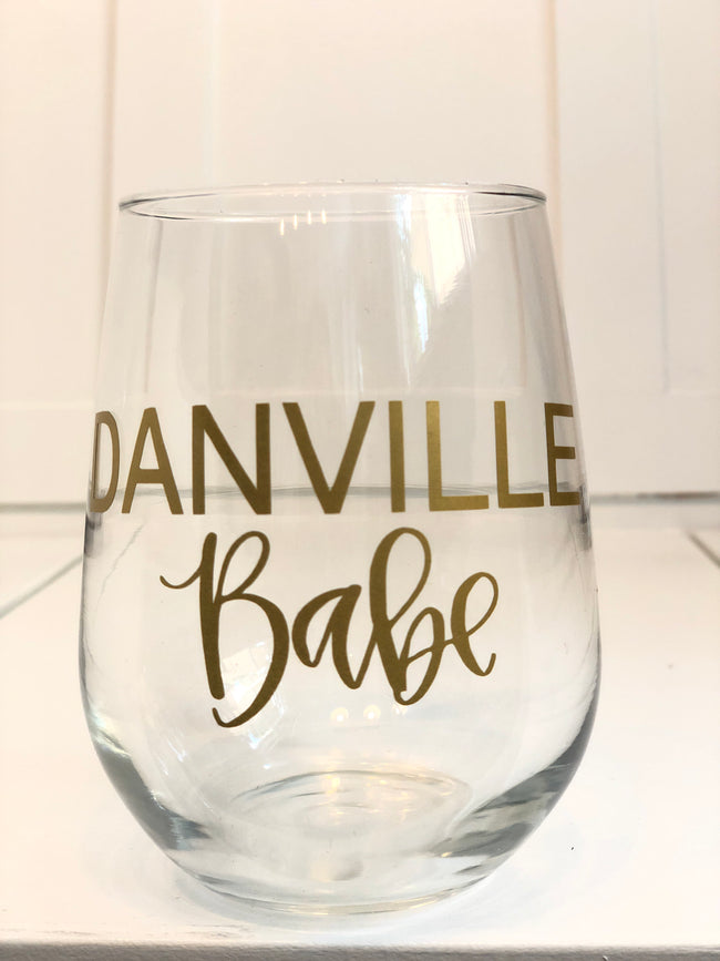 Danville Babe Stemless Wine Glass