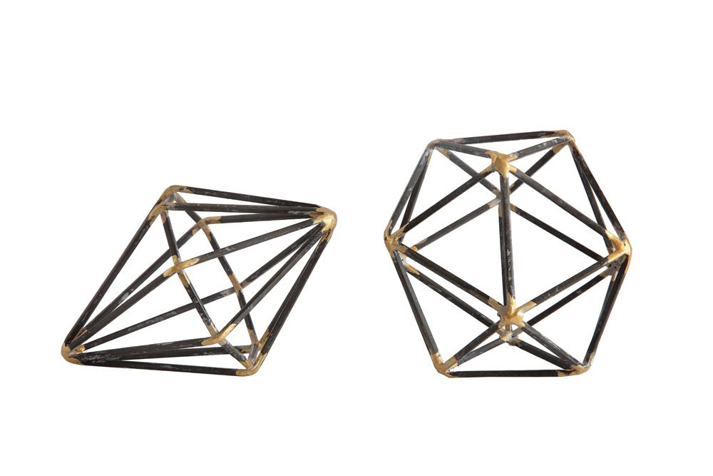 Geometric Shapes Decor : Diamond and Hexagon