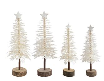 White Paper Trees with Star - 2 sizes
