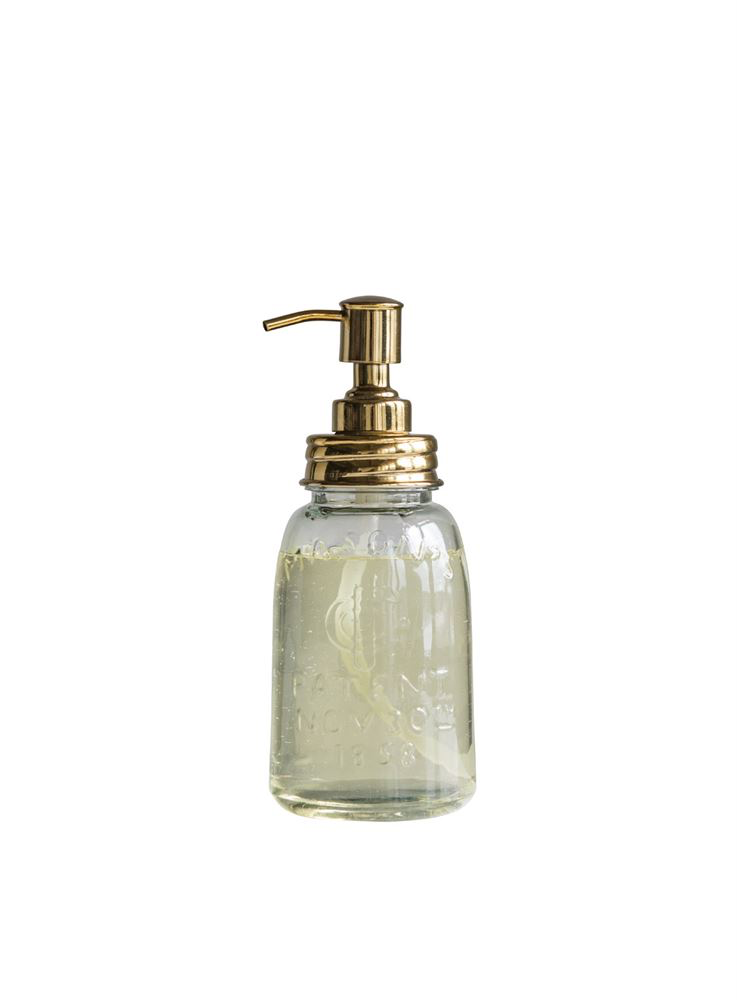 Glass Mason Jar Soap Pump