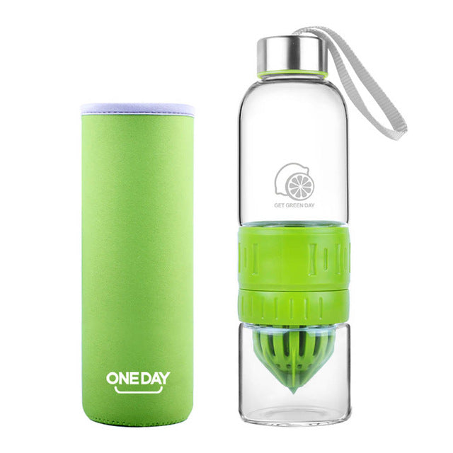 Cute Lemon Juicer Water Bottle - smooth camp zone