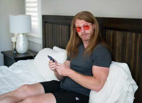 JP Sears wearing BLUblox blue light glasses