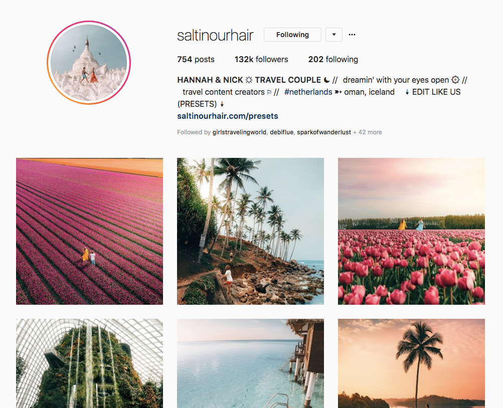 Instagram Travel Influencer Interview: Nick & Hannah @saltinourhair