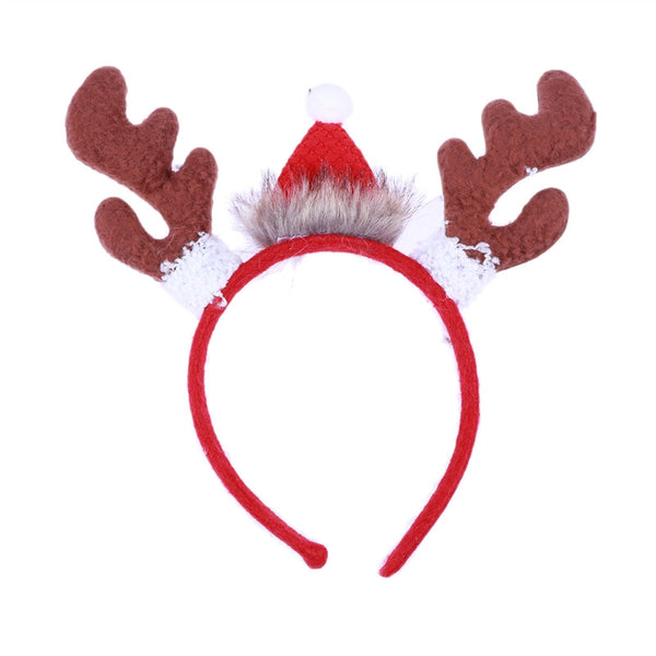 918d541e686bd Cute Reindeer Antlers Headband Christmas Hat Hairband for Adults Kids  Christmas Party Costume Props Hair Accessories