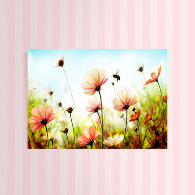 Diamond Painting - Blumenwiese mit Biene