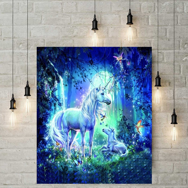 XXL - Diamond Painting - Einhorn