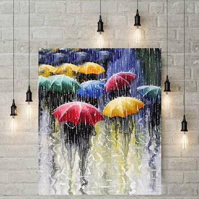 Diamond Painting - Bunte Regenschirme