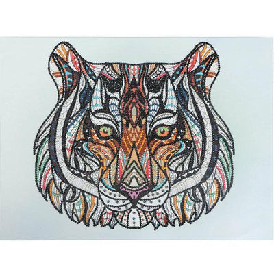 Mit Perlen - Der Tiger - Diamond Painting