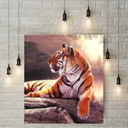Diamond Painting - Liegender Tiger