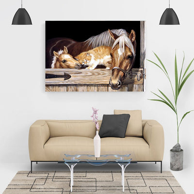 Diamond Painting - Pferd im Stall