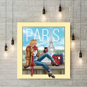 Diamond Painting - Frau in Paris