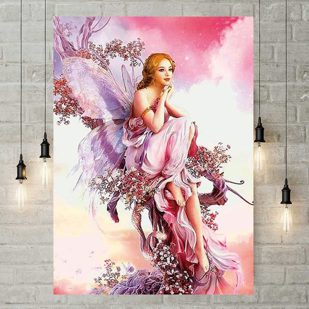 XXL - Diamond Painting - Schmetterlings-Fee