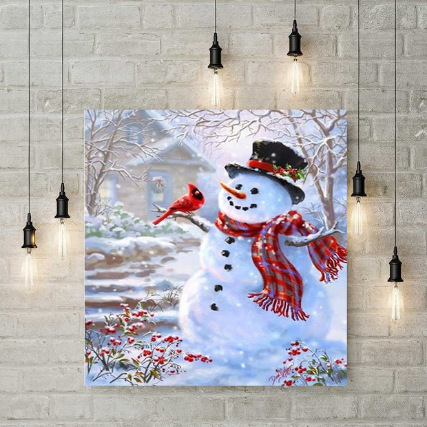 XXL - Diamond Painting - Schneemann